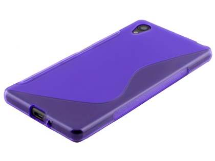 Wave Case for Sony Xperia X - Frosted Purple/Purple