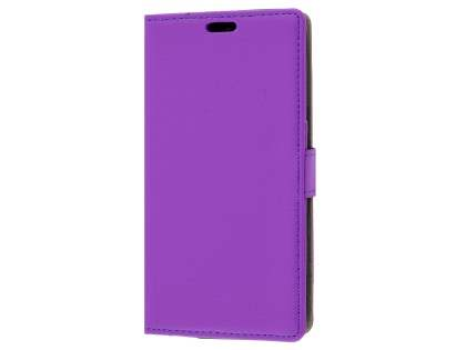 Slim Synthetic Leather Wallet Case with Stand for Telstra 4GX HD - Purple