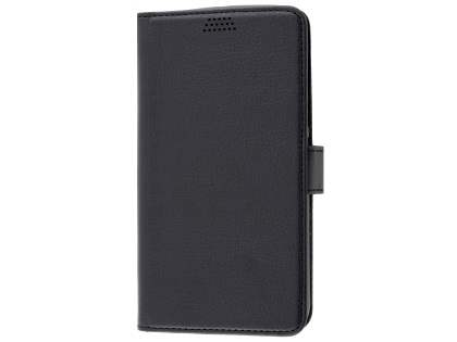 Slim Synthetic Leather Wallet Case with Stand for Motorola Moto G4/G4 Plus - Classic Black