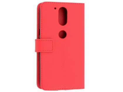 Slim Synthetic Leather Wallet Case with Stand for Motorola Moto G4/G4 Plus - Red Leather Wallet Case