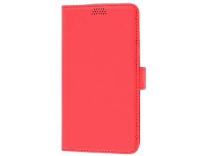 Slim Synthetic Leather Wallet Case with Stand for Motorola Moto G4/G4 Plus - Red