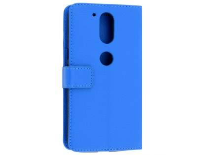 Slim Synthetic Leather Wallet Case with Stand for Motorola Moto G4/G4 Plus - Blue Leather Wallet Case