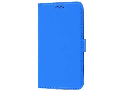 Slim Synthetic Leather Wallet Case with Stand for Motorola Moto G4/G4 Plus - Blue