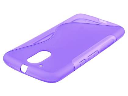 Wave Case for Motorola Moto G4/G4 Plus - Frosted Purple/Purple