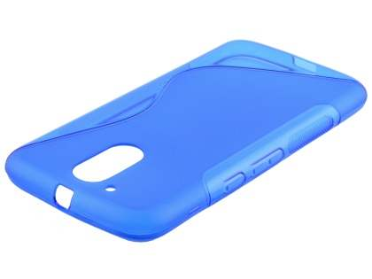 Wave Case for Motorola Moto G4/G4 Plus - Frosted Blue/Blue Soft Cover