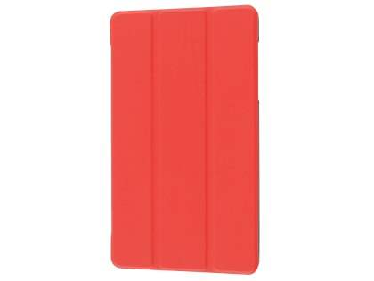 Slim Synthetic Leather Flip Case with Stand for Huawei MediaPad M2 8.0 - Red Leather Flip Case