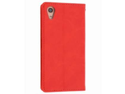 Mercury Blue Moon Wallet Case for Sony Xperia X Performance - Red