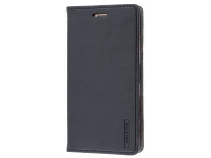 Mercury Goospery Blue Moon Wallet Case for Sony Xperia X Performance - Classic Black Leather Wallet Case