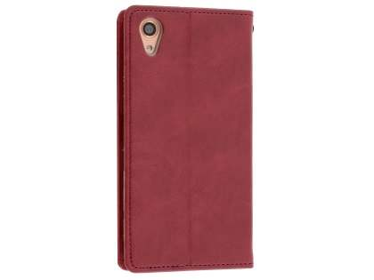 Mercury Blue Moon Wallet Case for Sony Xperia X Performance - Burgundy
