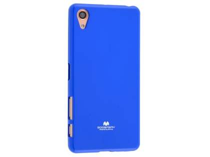Mercury Goospery Glossy Gel Case for Sony Xperia X Performance - Blue Soft Cover