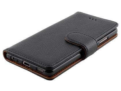 Synthetic Leather Wallet Case with Stand for Huawei P9 - Classic Black