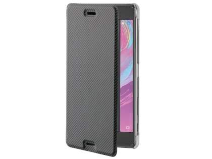 RoXfit Premium Book Case for Sony Xperia X Performance - Black Leather Wallet Case