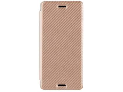 RoXfit Premium Book Case for Sony Xperia X Performance - Rose Gold