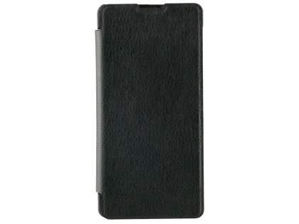RoXfit Urban Book Case for Sony Xperia XA - Black Leather Wallet Case