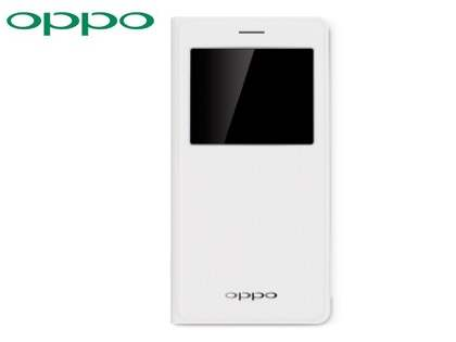 Genuine OPPO R7s Smart Flip Cover - White S View Cover
