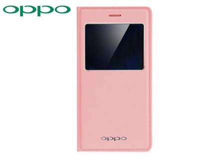 Genuine OPPO R7s Smart Flip Cover - Pink S View Cover