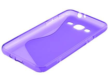 Wave Case for Samsung Galaxy J3 (2016) - Frosted Purple/Purple
