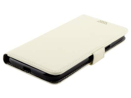 Slim Synthetic Leather Wallet Case with Stand for Motorola Moto G4/G4 Plus - Pearl White