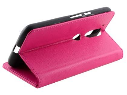 Slim Synthetic Leather Wallet Case with Stand for Motorola Moto G4/G4 Plus - Pink