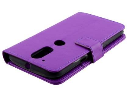 Slim Synthetic Leather Wallet Case with Stand for Motorola Moto G4/G4 Plus - Purple