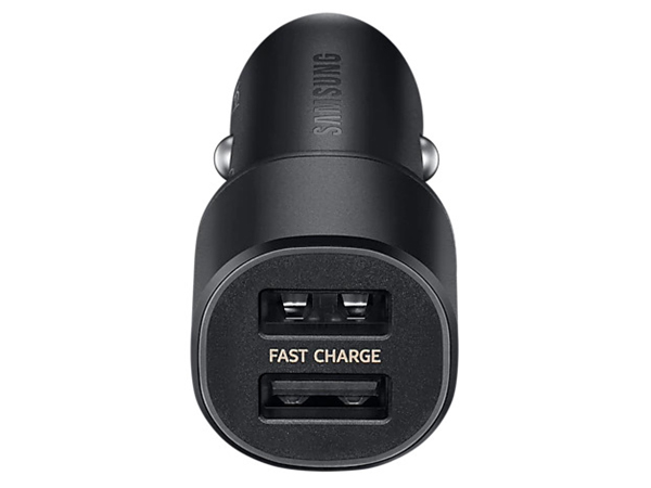 Samsung Adaptive Fast Charging Dual-Port Car Charger - Black Car Charger