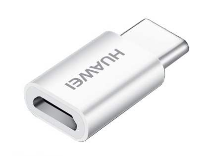 Genuine Huawei Micro USB to USB-C (Also Known as USB Type-C) Adapter - White Data Cable