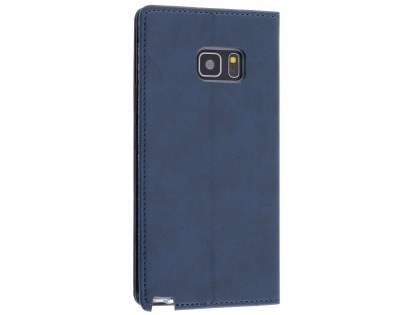 Mercury Goospery Blue Moon Wallet Case for Samsung Galaxy Note7 - Midnight Blue Leather Wallet Case