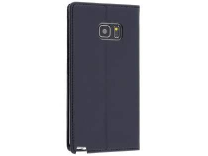 Mercury Blue Moon Wallet Case for Samsung Galaxy Note7 - Classic Black Leather Wallet Case