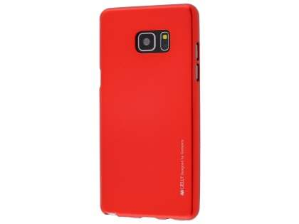 Mercury Goospery iJelly Gel Case for Samsung Galaxy Note7 - Metallic Red Soft Cover