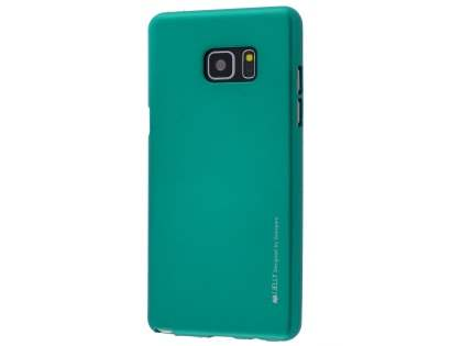 Mercury Goospery iJelly Gel Case for Samsung Galaxy Note7 - Metallic Green Soft Cover