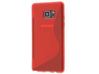 Wave Case for Samsung Galaxy Note7 - Frosted Red/Red Soft Cover