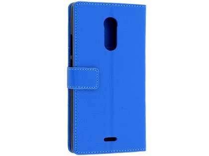 Slim Synthetic Leather Wallet Case with Stand for ZTE Blade V Plus - Blue Leather Wallet Case