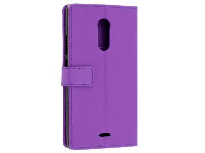 Slim Synthetic Leather Wallet Case with Stand for ZTE Blade V Plus - Purple Leather Wallet Case