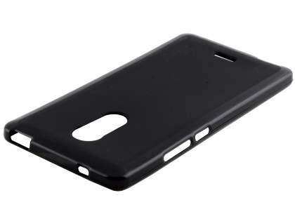 Frosted TPU Gel Case for ZTE Blade V Plus - Classic Black Soft Cover