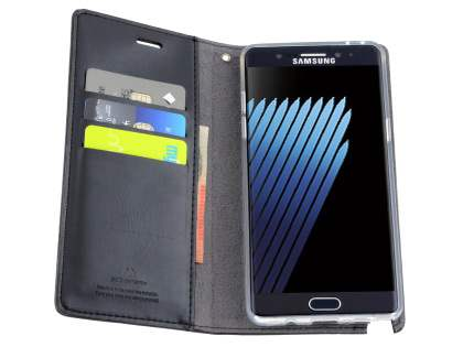 Mercury Blue Moon Wallet Case for Samsung Galaxy Note7 - Classic Black