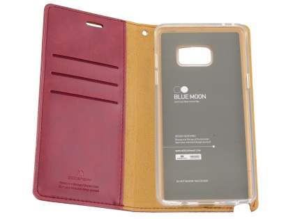 Mercury Goospery Blue Moon Wallet Case for Samsung Galaxy Note7 - Burgundy