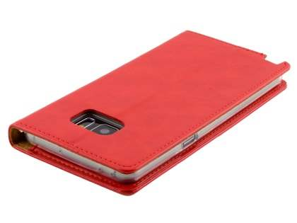 Mercury Goospery Blue Moon Wallet Case for Samsung Galaxy Note7 - Red