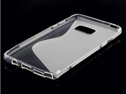 Samsung Galaxy Note7 Wave Case - Frosted Clear/Clear