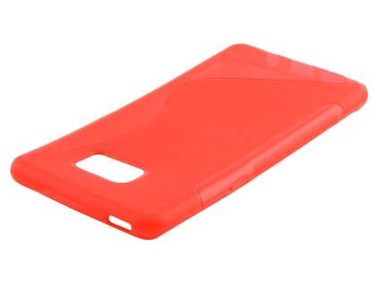Samsung Galaxy Note7 Wave Case - Frosted Red/Red