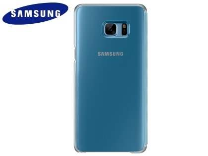 Genuine Samsung Galaxy Note7 Clear View Cover - Blue