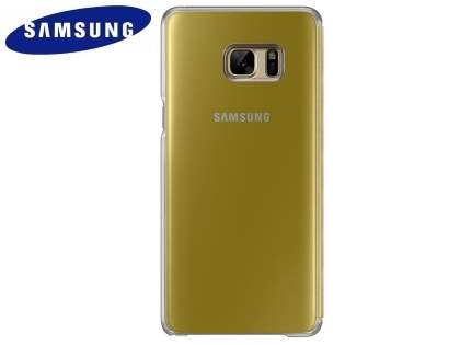 Genuine Samsung Galaxy Note7 Clear View Cover - Gold