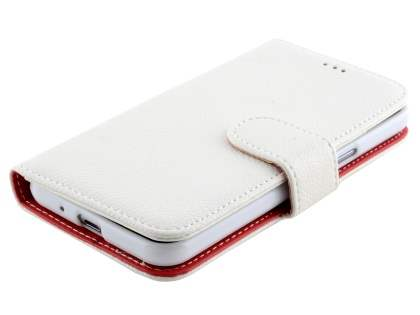 Synthetic Leather Wallet Case with Stand for Samsung Galaxy J3 (2016) - Pearl White