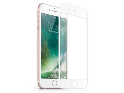 3D Full Coverage Tempered Glass Screen Protector for Apple iPhone 7 Plus - White