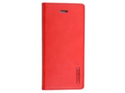Mercury Goospery Blue Moon Wallet Case for iPhone 8/7 - Red Leather Wallet Case