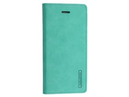Mercury Goospery Blue Moon Wallet Case for iPhone 8 Plus/7 Plus - Mint Leather Wallet Case