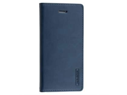 Mercury Goospery Blue Moon Wallet Case for iPhone 8 Plus/7 Plus - Midnight Blue Leather Wallet Case
