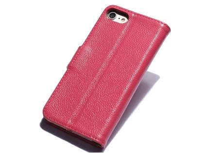 Premium Leather Wallet Case for iPhone 8/7 - Pink Leather Wallet Case