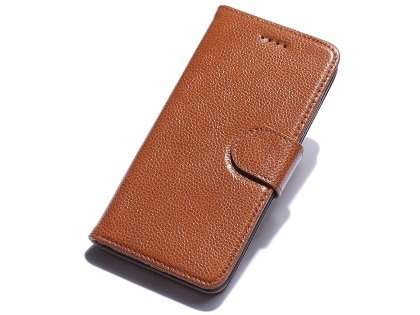 Premium Leather Wallet Case for iPhone 7 Plus - Brown Leather Wallet Case