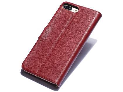Premium Leather Wallet Case for iPhone 8 Plus/7 Plus - Rosewood Leather Wallet Case