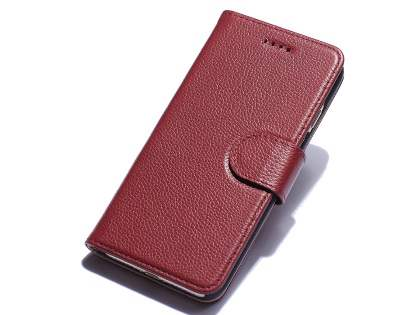 Premium Leather Wallet Case for iPhone 8 Plus/7 Plus - Rosewood